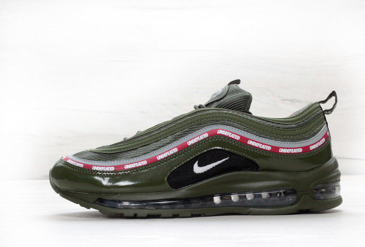 "pretty nice b575e 4eaa9 Кроссовки Undefeated x Nike Air Max 97 ""Olive"" цвета хаки"