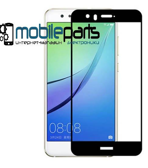 Защитное стекло для Huawei Nova 2s (0,25 мм, 3D)(Черное)(Тех.упаковка, без салфеток)