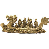 Восемь бессмертных на драконе 10х30х8 бронзовый (2994)