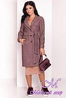 Женское демисезонное пальто до колена (р. S, M, L) арт. Глорис 4428 - 21932