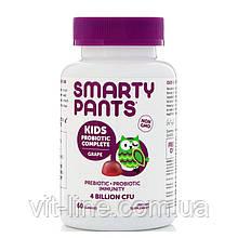 SmartyPants, Полноценный пробиотик для детей, виноград, 4 млрд КОЕ, 60 жевательных таблеток