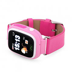 """Детские умные часы Robot Q90/Q100 смарт-часы с GPS WiFi 3G 1"""" Розовые"""