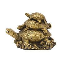 Статуэтка Черепаха 3 поколения 8x11x7 см бронзовая (А7730)