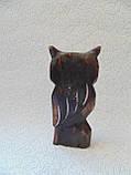 Статуэтка деревянная сова высота 15 см, фото 4
