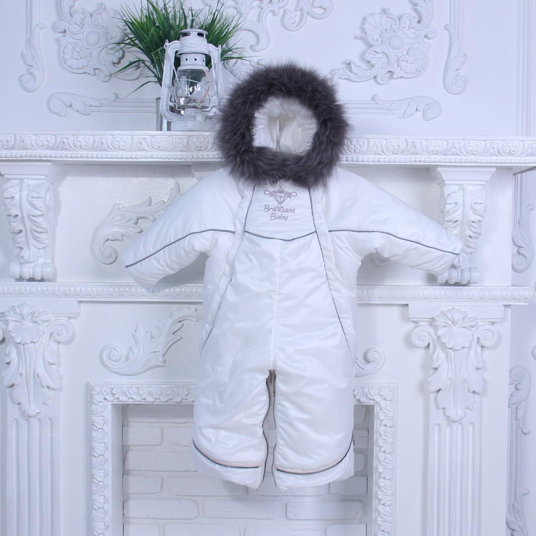 Зимний комбинезон трансформер Снежинка (белый)