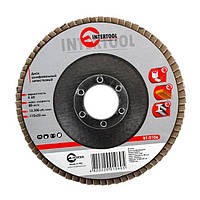 Диск шлифовальный лепестковый 115x22 мм, зерно K60 INTERTOOL BT-0106