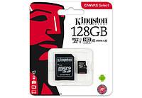 Kingston 128GB microSDXC UHS-I Canvas Select 80R class 10+SD Adapter (SDCS/128GB), фото 1