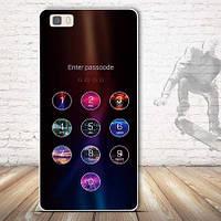 Чехол силиконовый бампер для Huawei P8 lite с рисунком Passcode