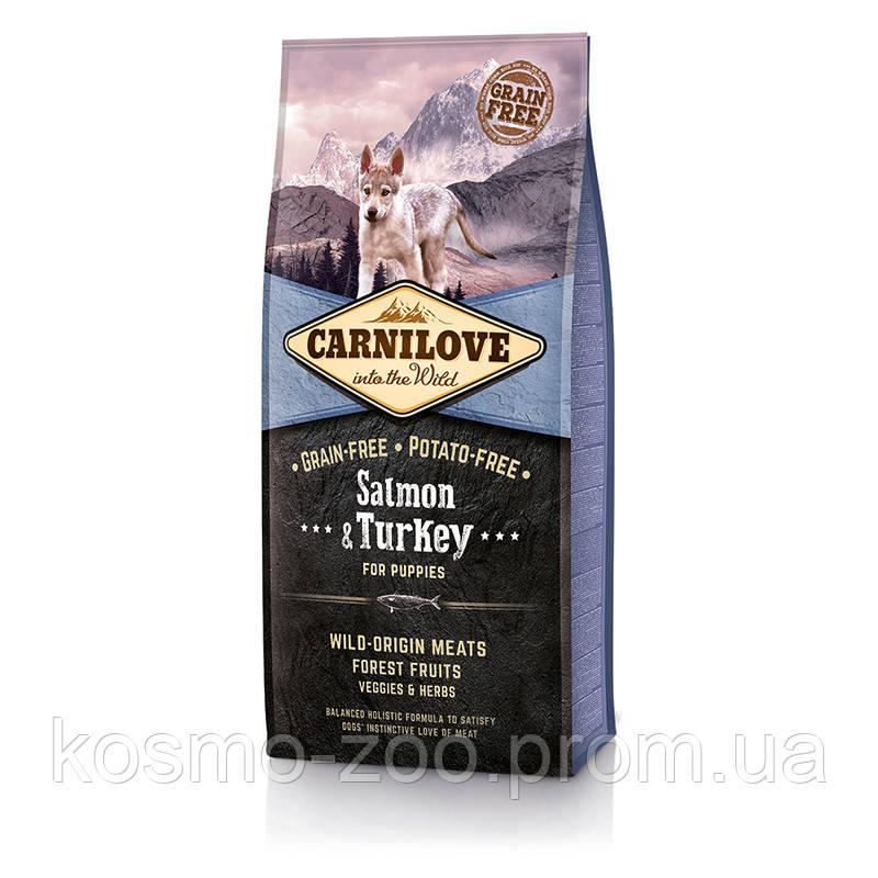 Сухой корм для щенков (Carnilove Puppy Salmon&Turkey) с лососем и индейкой, 12 кг