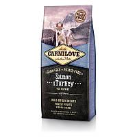 Сухой корм Карнилав (Carnilove Puppy Salmon&Turkey) с лососем и индейкой для щенков, 12 кг