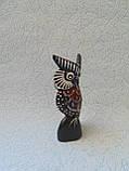 Статуэтка деревянная сова высота 12 см, фото 2