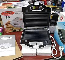 Тостер универсальный WimpeX WX1057 (3 в 1) бутербродница гриль, вафельница, сэндвичница , фото 2