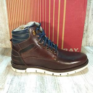 Ботинки мужские UNIONBAY Mens Brooks Bordeaux,кожаные с мехом. Оригинал. Размер 43,5