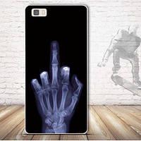Чехол силиконовый бампер для Huawei P8 lite с рисунком Рентген
