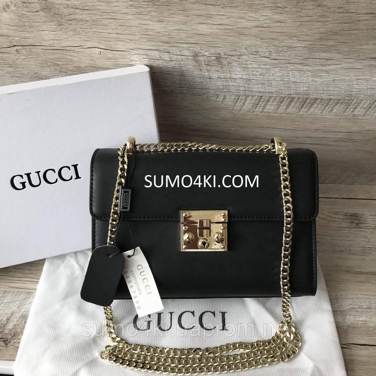 Купить Крутую женскую кожаную сумку Gucci Гуччи оптом и в розницу в ... 3e2df9a1fca