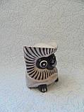 Статуэтка деревянная сова высота 8 см, фото 2
