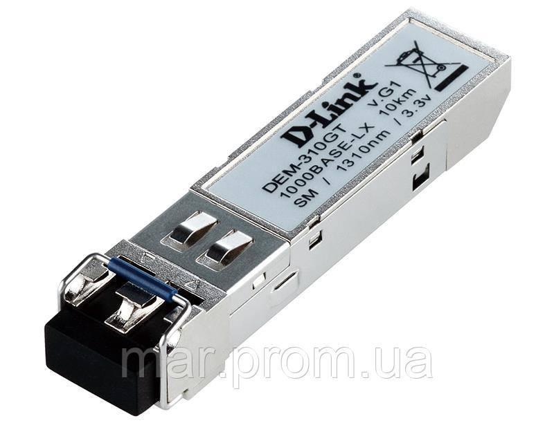 SFP-Трансивер D-Link DEM-310GT/DD 1x1000BaseLX, SM, 10км, LC, DDM-мониторинг