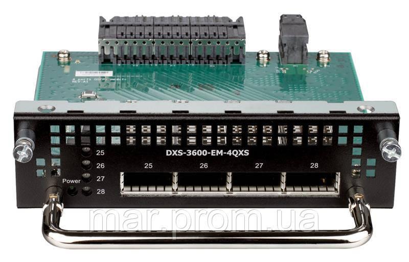 Модуль D-LINK DXS-3600-EM-4QXS 4x40G QSFP+ для DXS-3600-XXX