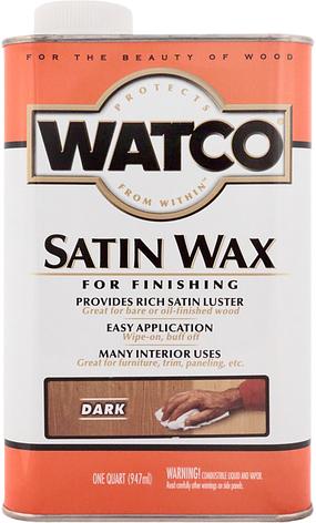 Воск для дерева и мебели Watco satin wax, темный (Dark), 0,946 л, фото 2