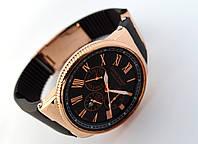 Стальные часы в стиле Nardin - Le Locle, цвет корпуса золото, черный циферблат