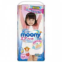 Moony подгузники – трусики Air Fit Big (12-17) кг, 38 шт. для девочки