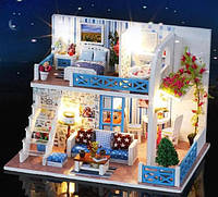 Миниатюрный кукольный домик, DIY набор для сборки, ночник, фото 1