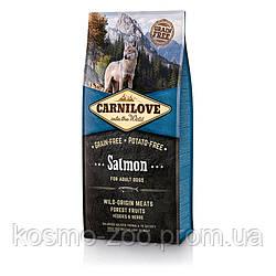 Сухой корм Карнилав (Carnilove Adult Salmon) с лососем для взрослых собак всех пород, 12 кг