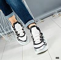 """Кроссовки в стиле """"LV"""" серебристые, фото 1"""
