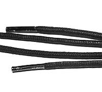 Шнурки пропитка круглая 1,2 м диаметр 4 мм черного цвета