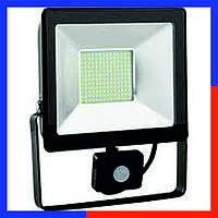 Прожектор с датчиком движения и освещенности SMD 50W 6400K 1800Lm