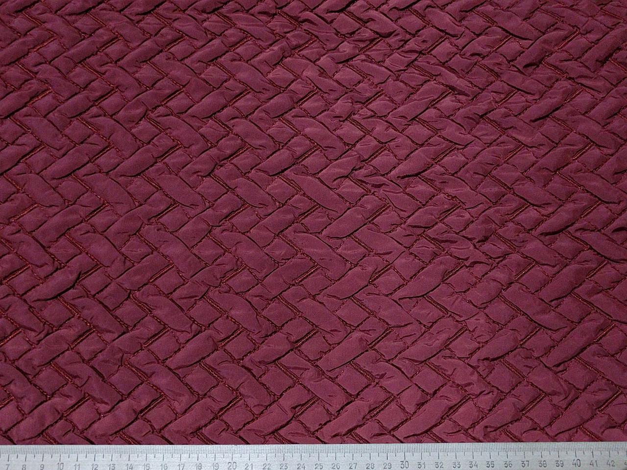 Ткань плащевка строченая зигзаг, кирпич - Атлас - розничная сеть магазинов тканей в Одессе