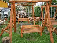 Качели декоративные из дерева