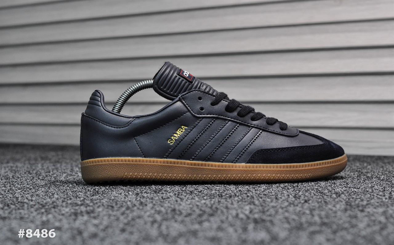 Мужские кроссовки Adidas Samba Deep Blue,Реплика