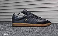 Мужские кроссовки Adidas Samba Deep Blue,Реплика, фото 1