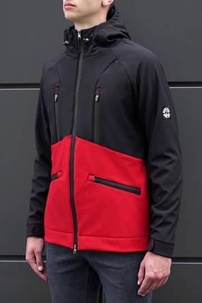 Мужская куртка Softshell Black\red '18 черно-красная, фото 2