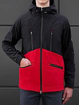 Мужская куртка Softshell Black\red '18 черно-красная, фото 3