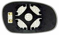 Зеркальный элемент c обогревом на DAEWOO Lanos с 97год.,лев.