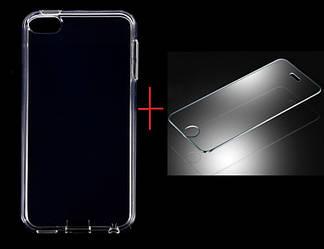 Полиуретановый чехол для Apple iPodtouch 5\6\7 + защитное стекло на экран   в подарок