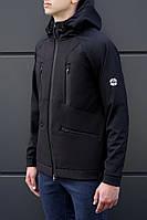 Мужская стильная куртка Softshell Black/Navy