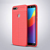 Чехол Huawei Y7 2018 / Y7 Prime 2018 / Honor 7C / Honor 7C Pro силикон Original Auto Focus Soft Touch красный