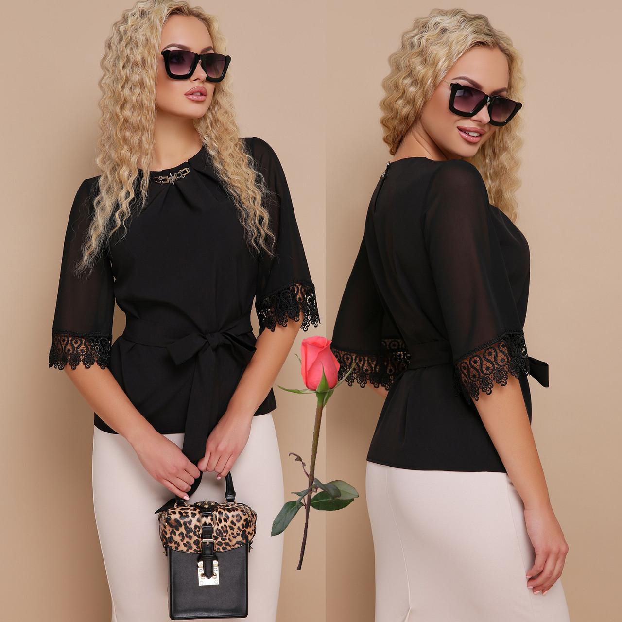 5f1f4244e40 Белая классическая блуза из шифона свободного кроя Gl КАРЛА  продажа ...