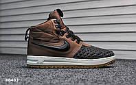 Мужские кроссовки Nike Lunar Force Brown, Реплика ААА, фото 1