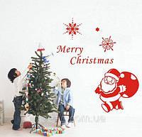 Наклейка для окна Дед Мороз