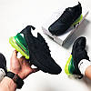 "Мужские кроссовки Nike Air Max 270 ""Black/Green"" (Найк Аир Макс) черные, фото 5"