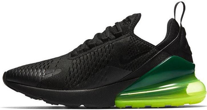 """Мужские кроссовки Nike Air Max 270 """"Black/Green"""" (Найк Аир Макс) черные"""