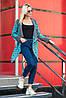 Вязаный женский кардиган Аризона, серый+мята