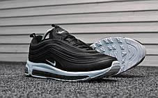 Кроссовки мужские черные Nike Air Max 97 Black White (реплика), фото 2