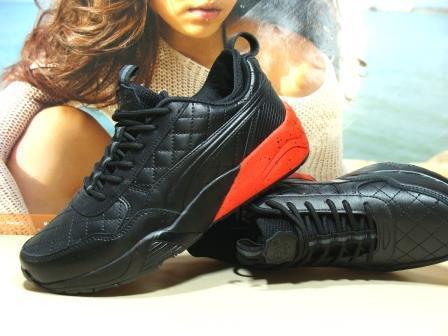 Мужские кроссовки Puma Ronnie Fieg HIghsnobiety RF698 (реплика) черно-красные 46 р.