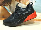 Мужские кроссовки Puma Ronnie Fieg HIghsnobiety RF698 (реплика) черно-красные 46 р., фото 2