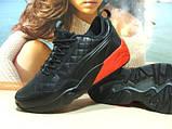 Мужские кроссовки Puma Ronnie Fieg HIghsnobiety RF698 (реплика) черно-красные 46 р., фото 3